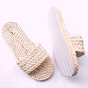 New Couple Straw unisex house slippers