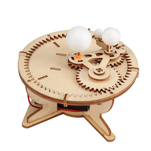 Science Experiment Wooden Puzzle with Gear Hand-Craft Toys for Kids Or Adults