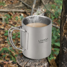 Load image into Gallery viewer, Titanium Double Wall Mug with Sack