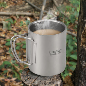 Titanium Double Wall Mug with Sack
