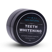 画像をギャラリービューアに読み込む, Activated Organic Charcoal Teeth whitening Powder + Bamboo Tooth Brush Set