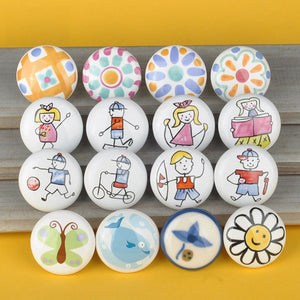ceramic Knob with Multi-pattern  For Baby & Kid's Room