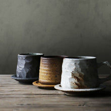 Load image into Gallery viewer, Handmade Ceramic Coffee Mug with Tray