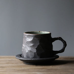 Handmade Ceramic Coffee Mug with Tray