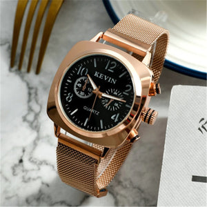 Women Watch Magnetic Stainless Steel in Rose Gold