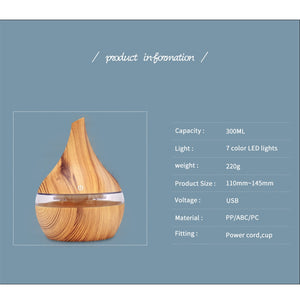 USB Electric Aroma Air Diffuser & Ultrasonic Air Humidifier