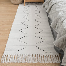 Load image into Gallery viewer, Hand Woven made Rug of 100% Natural Cotton Fiber with Non-Slip Pads