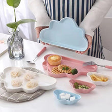 이미지를 갤러리 뷰어에 로드 , Matte Cloud and Raindrop Shape ceramic plates tableware