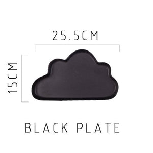 Matte Cloud and Raindrop Shape ceramic plates tableware