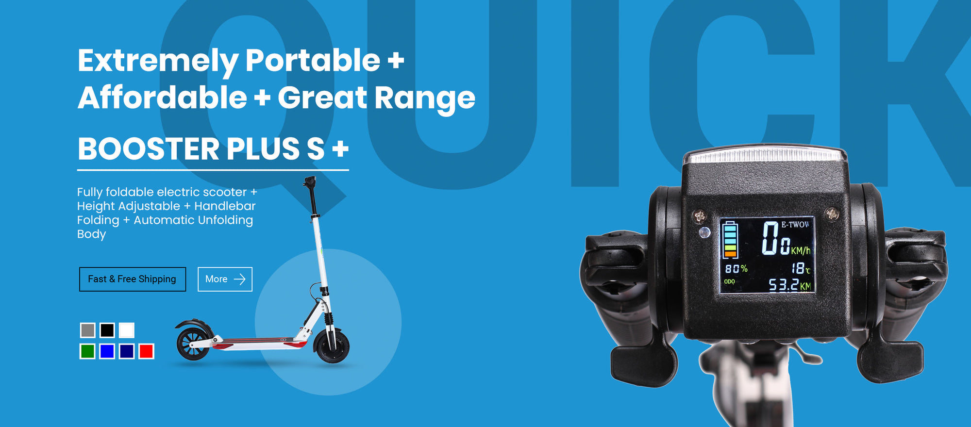 Buy e-TWOW electric scooters in the USA and in stock.
