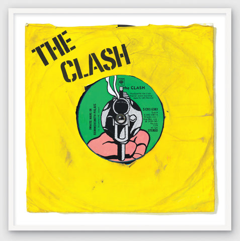"""White Man in Hammersmith Palais"" The Clash Original Painting (Sold)"