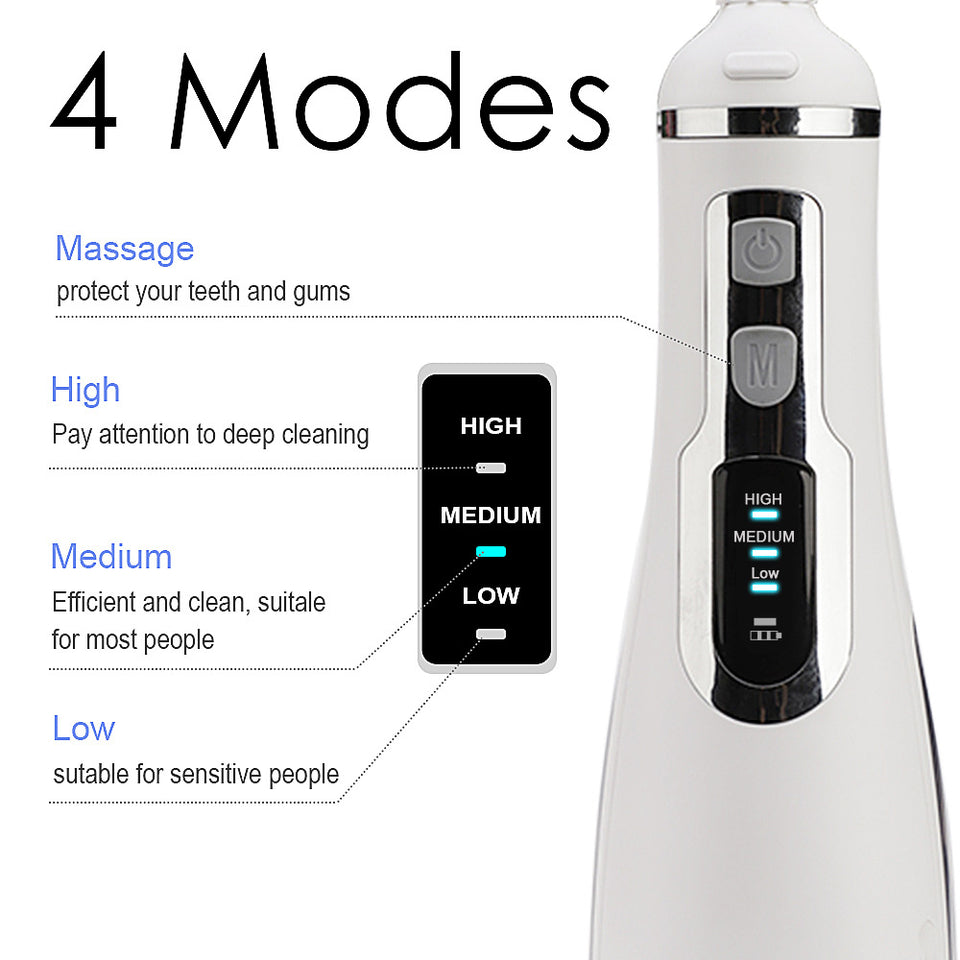 Waterpulse V500 Cordless Water Flosser Rechargeable Portable Oral irrigator for Travel & Home – UPGRADE MASSAGE FUNCTION