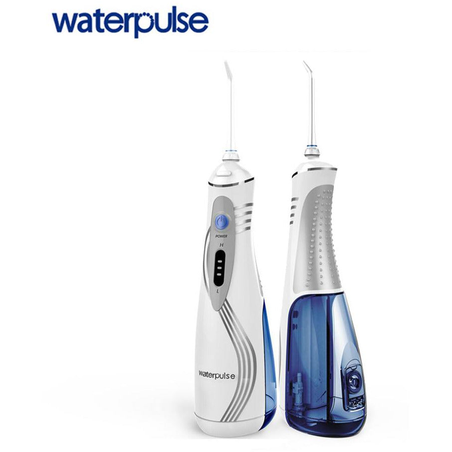 Waterpulse V400P Cordless Water Flosser Rechargeable Portable Oral irrigator for Travel & Home – 3 LEVER WATER PRESSURE (Cordless Advanced )