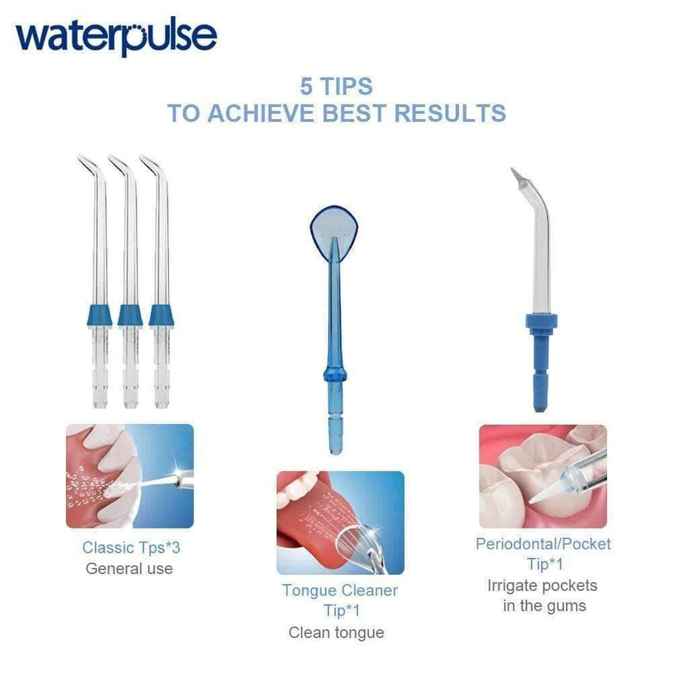 Waterpulse V300 Water Flosser Electric Dental Countertop Professional Oral Irrigator For Teeth - BASIC VERSION