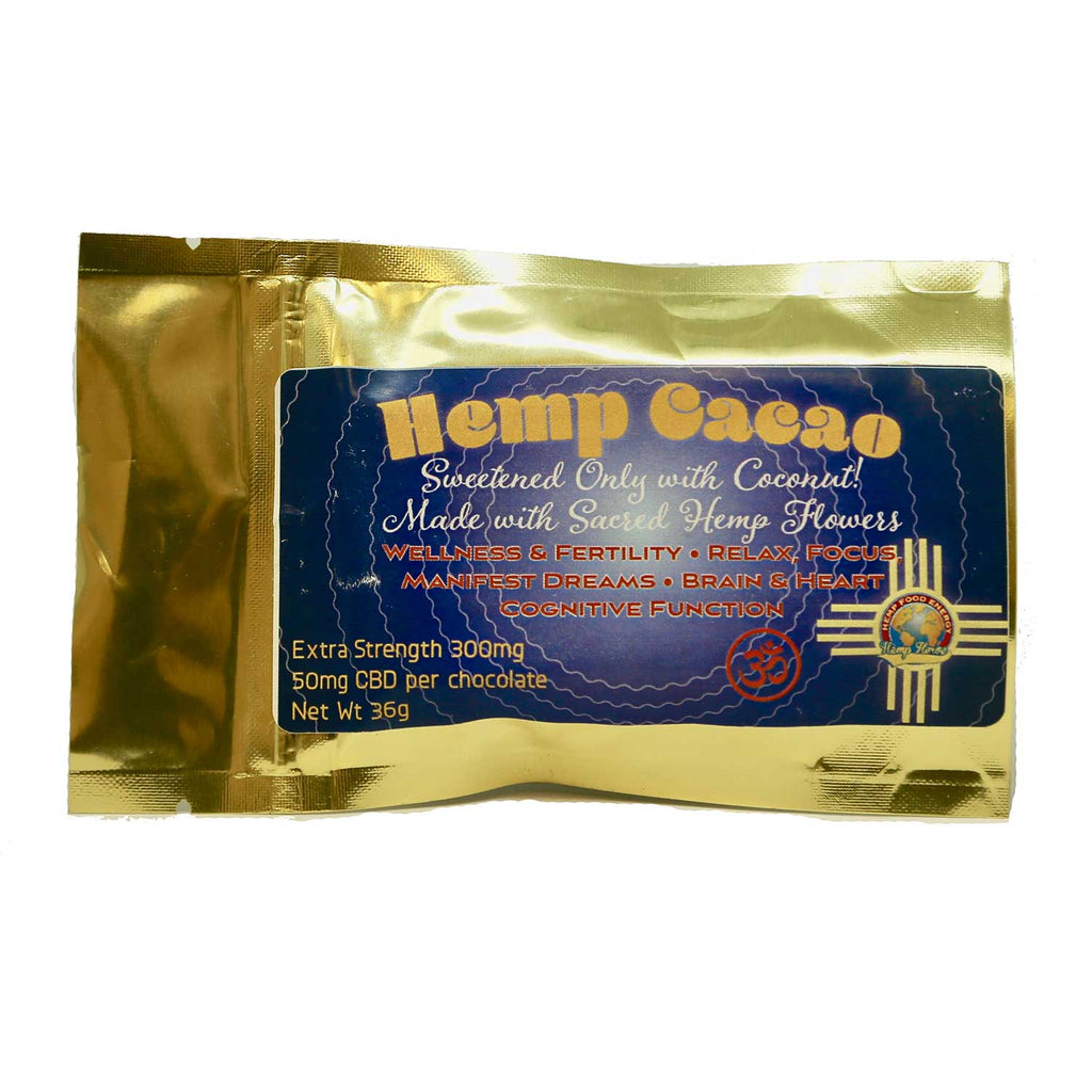 Brazil Cacao Bar Hemp Edible 6 Servings 300mg