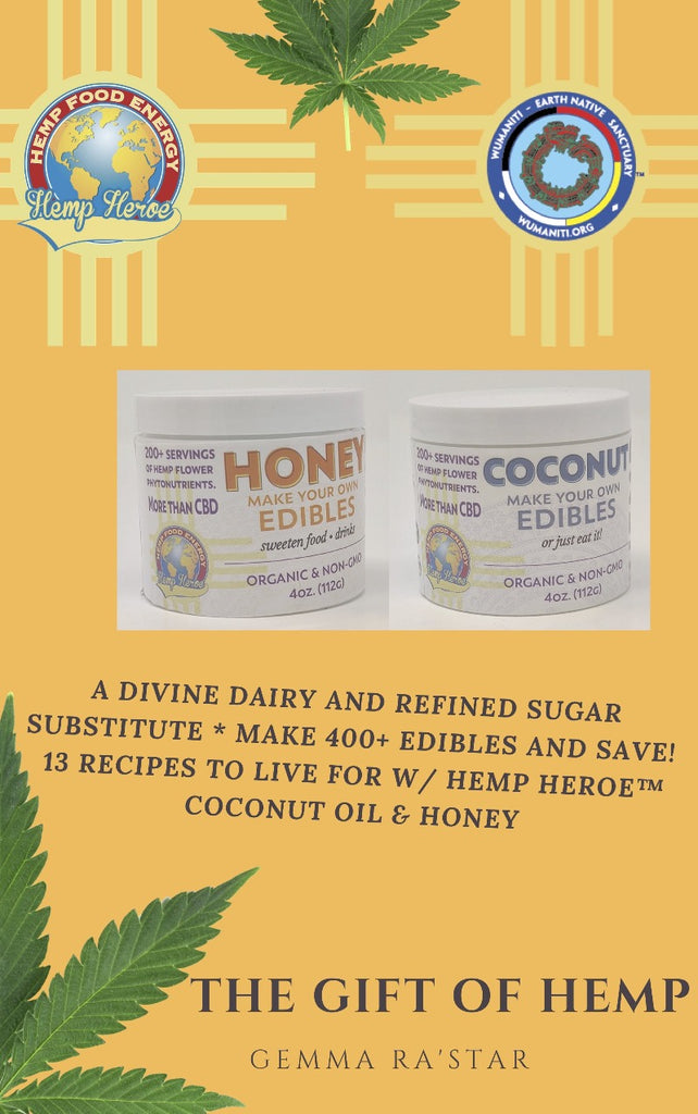 Organic Hemp Flower CBD Honey + CBD Coconut Oil = a Free Edible Recipe Book