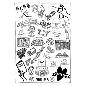 Martha Bundle Tea Towel
