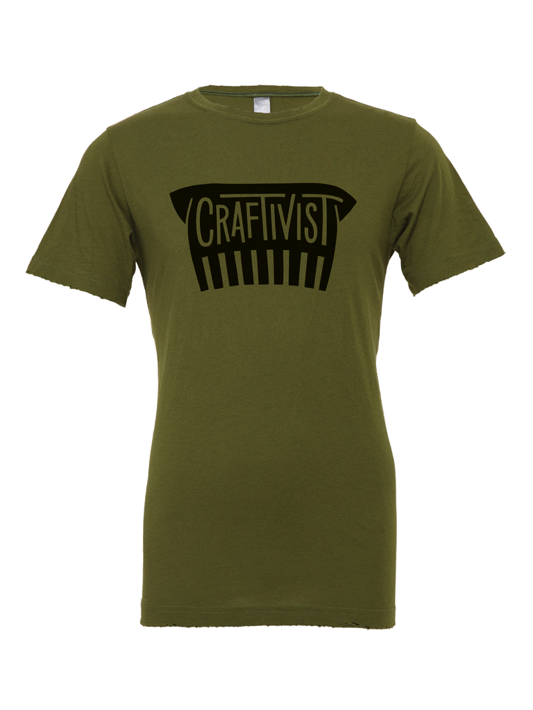 Preorder - Exclusive Olive Green Shellican Craftivist Tee