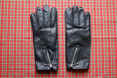 GOLD TOP Zip Gloves fleece lining (black)