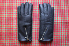GOLD TOP Zip Gloves wool lining (black)