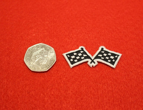 Chequered Flags Patch Small
