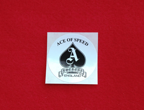ACE OF SPEED Mini Sticker (White)