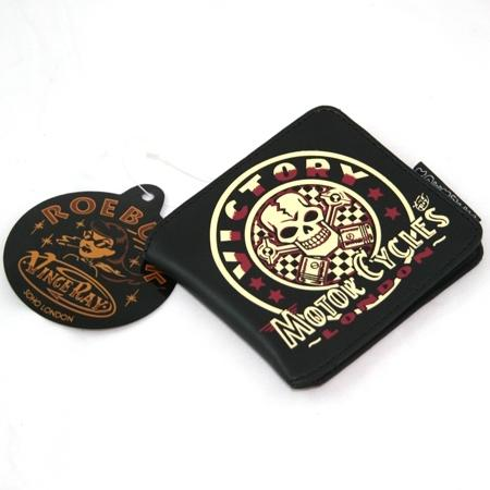 VICTORY Wallet Skull and Pistons