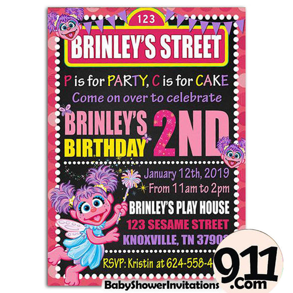 Abby Cadabby Birthday Party Invitation Ak1 23032020, Personalize-Invitation | BabyShowerInvitations911.com
