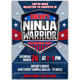 American Ninja Warrior Birthday Party Invitation, American Ninja Warrior Theme Birthday Party Invitation Corjl