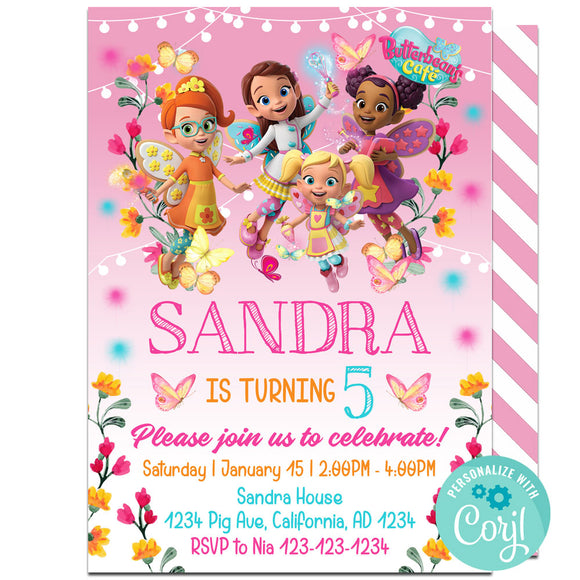 Butterbean Birthday Party Invitation, Butterbean Birthday Party Invitation Corjl