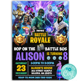 Fortnite Birthday Party Invitation, Fortnite Theme Birthday Party Invitation Corjl