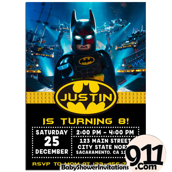 Lego Batman Batman Invitation Superhero Birthday Printable Party Movie 08 - babyshowerinvitations911.com