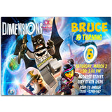 Lego Batman Birthday Party Invitation, Lego Batman Theme Birthday Party Invitation Corjl