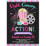 Movie Birthday Party Invitation, Movie Theme Birthday Party Invitation Corjl