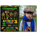 Ninja Turtle Invitation Ninja Turtles Birthday Teenage Mutan Ninja Invitation TMNT Invitation-personalize911