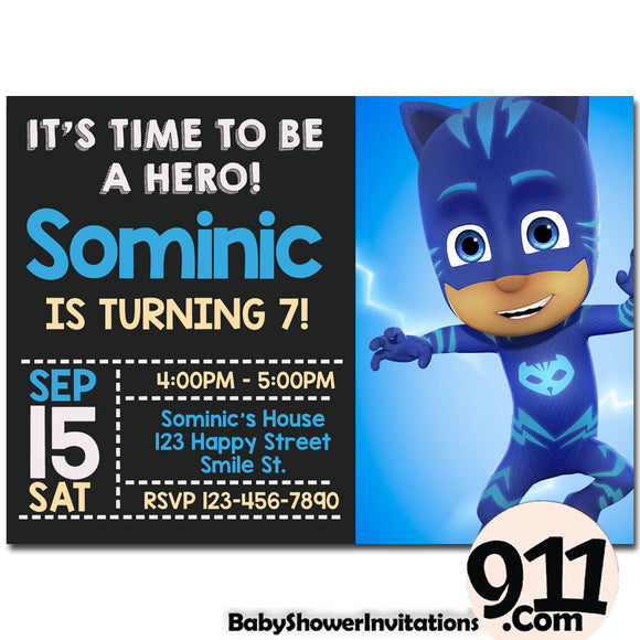 PJ Masks Birthday Invitation PJ Masks Invitation PJ Masks Party Pj Masks 25 - babyshowerinvitations911.com