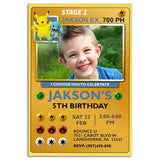 Pokemon Birthday Party Invitation Pokemon Theme Birthday Party Invitation ax3-personalize911