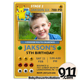 Pokemon Birthday Party Invitation Pokemon Theme Birthday Party Invitation ax3 - babyshowerinvitations911.com