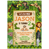 Safari Birthday Party Invitation, Safari Theme Birthday Party Invitation Corjl