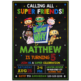 Super Why Birthday Party Invitation Theme Birthday Party Invitation-personalize911