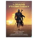 The Mandalorian Birthday Party Invitation The Mandalorian Theme Birthday Party Invitation-personalize911
