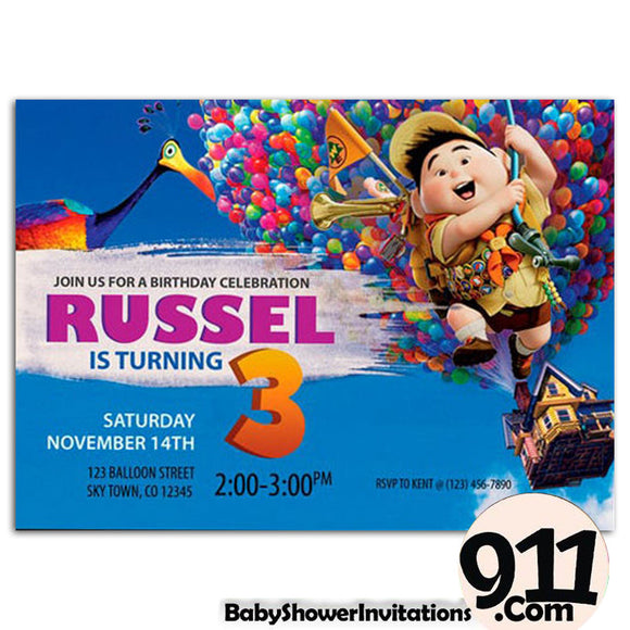 Up Movie Birthday Party Invitation 1 01042020, Personalize-Invitation | BabyShowerInvitations911.com