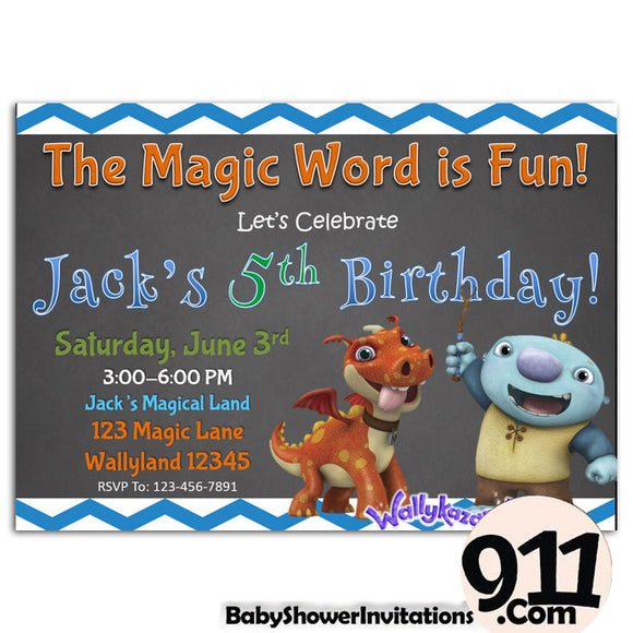 WallyKazam Birthday Party Invitation 1 01042020, Personalize-Invitation | BabyShowerInvitations911.com