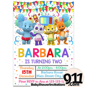 Word Birthday Party Invitation Word Theme Birthday Party Invitation Ax6 - babyshowerinvitations911.com