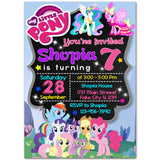 Little Pony Birthday Party Invitation, Little Pony Theme Birthday Party Invitation Corjl