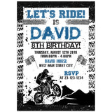 Motor Cross Birthday Party Invitation, Motor Cross Theme Birthday Party Invitation Corjl