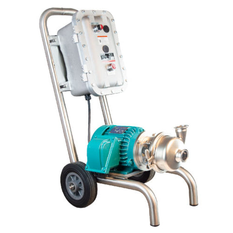 INOXPA Hyginox SEN-20 Portable Centrifugal Pump Assembly with Explosion Proof Motor (3 - 15 HP)