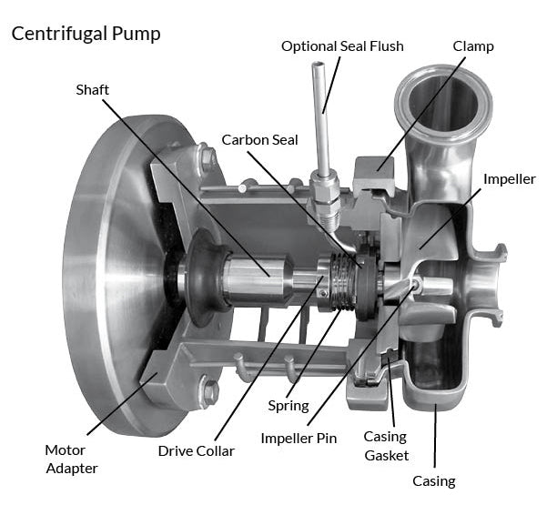 C114MD Pump With Stainless Steel Washdown Motor (1/2 - 3 HP)