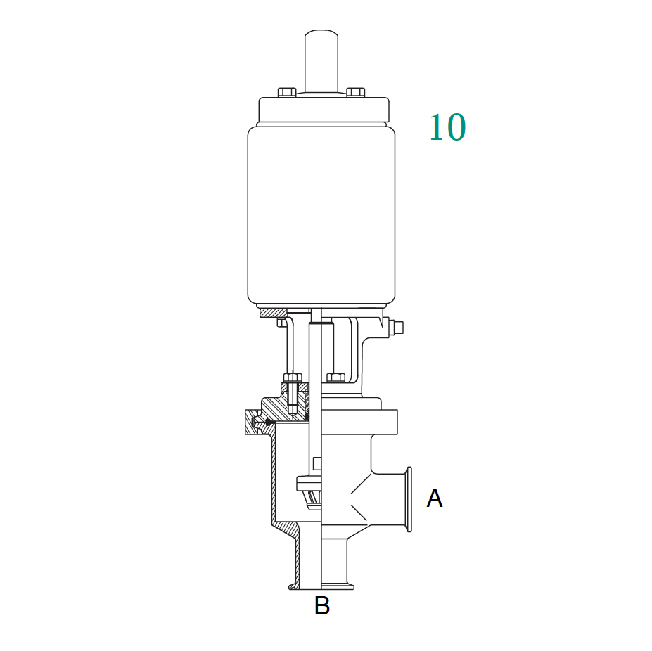 361 Series Air Actuated Seat Valve