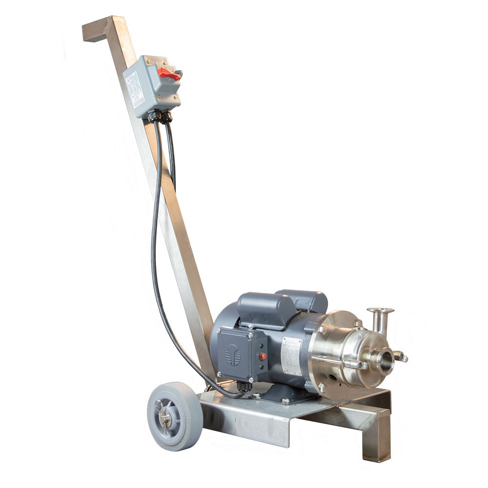 Portable Pumps with custom designed stainless steel carts